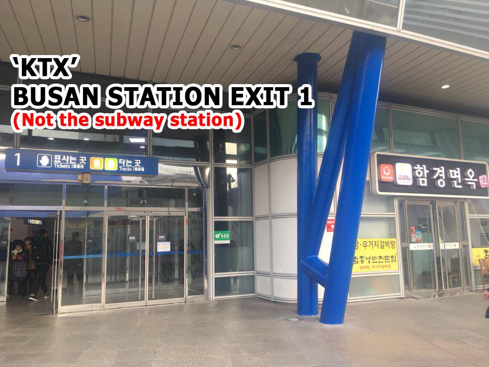 [Busan]KTX Busan Station Exit 1_KTX