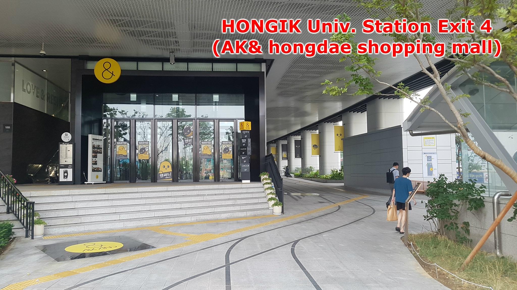 [Seoul]Hongik Uni Station Exit 4